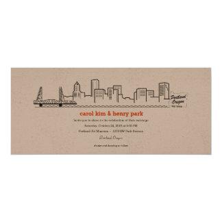 Portland City Skyline Invitation