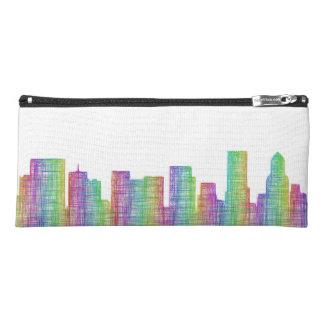 Portland city skyline pencil case