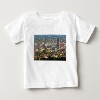 Portland Downtown Cityscape in Fall Season Baby T-Shirt