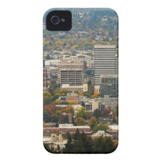 Portland Downtown Cityscape in Fall Season iPhone 4 Case