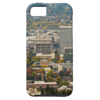 Portland Downtown Cityscape in Fall Season iPhone 5 Cover