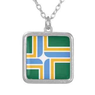 Portland Flag Silver Plated Necklace