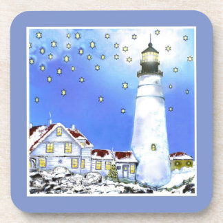 Portland Head Light Cork Coaster by Bonhovey