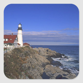 Portland Head Light Lighthouse Maine Square Sticker