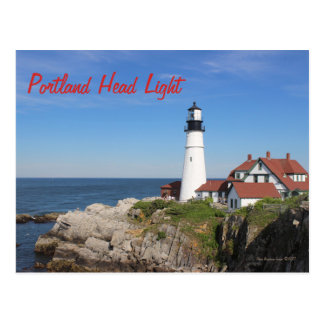 Portland Head Light postcard