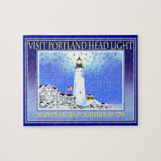 Portland Head Light Puzzel With Tin by Bonhovey Jigsaw Puzzle