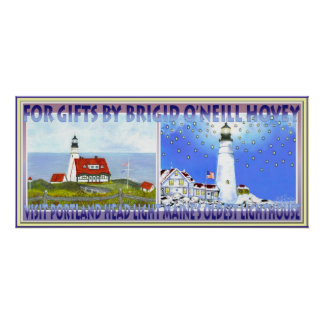 Portland Head Light, Travel Poster for Trolly