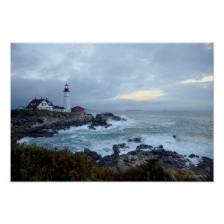 Portland Head Lighthouse at Sunrise Poster