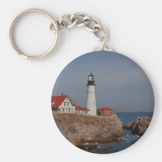 Portland Head Lighthouse Basic Round Button Keychain