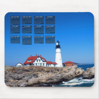 Portland Head Lighthouse Calendar Mouse Pad