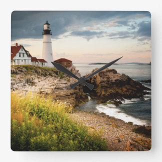 Portland Head Lighthouse | Cape Elizabeth, Me Square Wall Clock