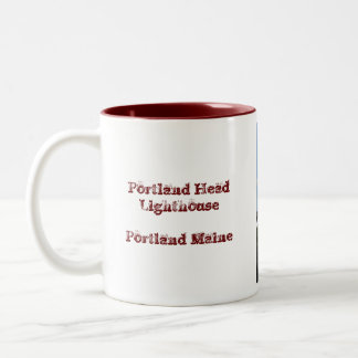 Portland Head Lighthouse Two-Tone Coffee Mug