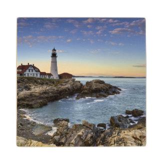 Portland Head Lighthouse Wood Coaster
