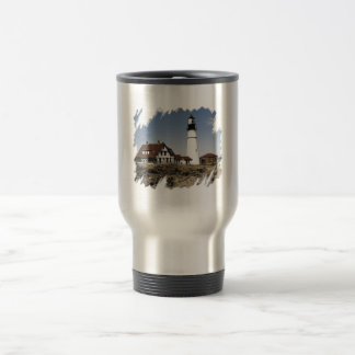 Portland Headlight (07) Shirt Travel Mug