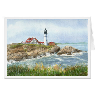 Portland Headlight Lighthouse Notecards Card