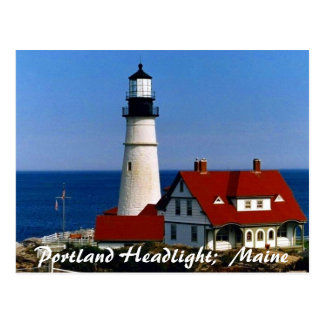 Portland Headlight, Maine Postcard