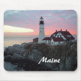 Portland Headlight Sunrise Maine Mousepad