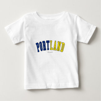 Portland in Oregon state flag colors Baby T-Shirt
