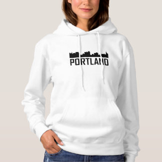 Portland Maine City Skyline Hoodie