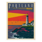 Portland, Maine | Lighthouse Postcard