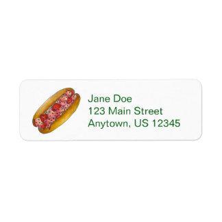 Portland Maine Lobster Roll Sandwich Labels