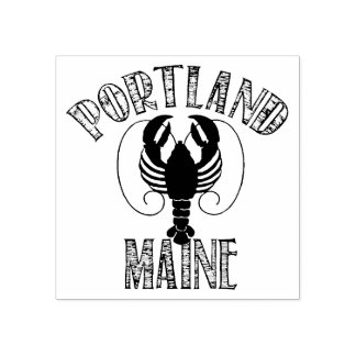 Portland Maine Lobster Rubber Stamp