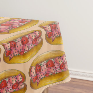 Portland Maine Seafood Lobster Roll Sandwich Food Tablecloth