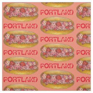 Portland ME Maine Lobster Roll Sandwich Foodie Fabric