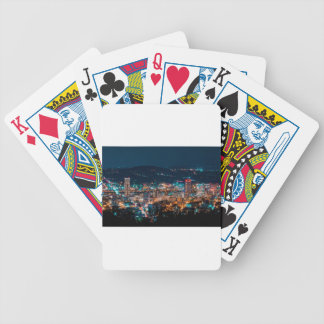 Portland Night Skyline Bicycle Playing Cards
