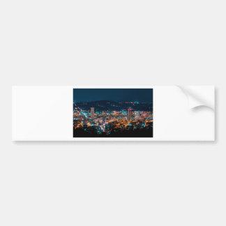 Portland Night Skyline Bumper Sticker