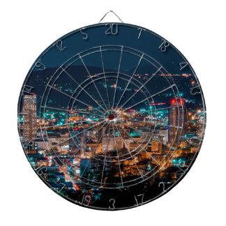 Portland Night Skyline Dartboard
