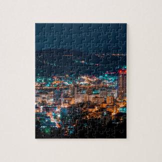 Portland Night Skyline Jigsaw Puzzle
