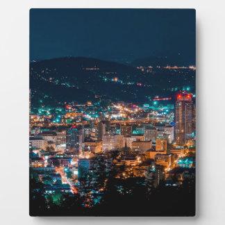 Portland Night Skyline Plaque