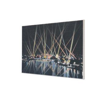 Portland, OR - Battleship Illumination Canvas Print