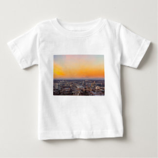 Portland OR Cityscape and Mt Saint Helens sunset Baby T-Shirt