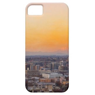 Portland OR Cityscape and Mt Saint Helens sunset Case For The iPhone 5