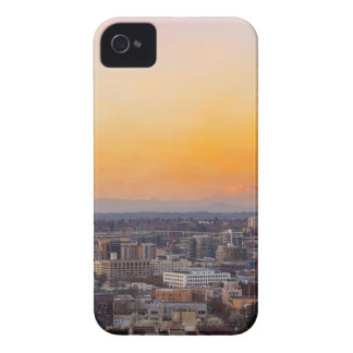 Portland OR Cityscape and Mt Saint Helens sunset Case-Mate iPhone 4 Cases