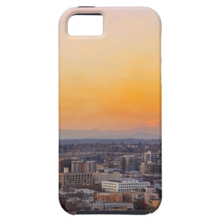 Portland OR Cityscape and Mt Saint Helens sunset iPhone 5 Case