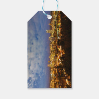 Portland OR Cityscape at Blue Hour Gift Tags