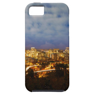 Portland OR Cityscape at Blue Hour iPhone 5 Covers