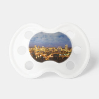 Portland OR Cityscape at Blue Hour Pacifier