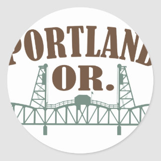 Portland OR Classic Round Sticker