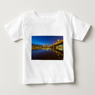 Portland OR Downtown city skyline Blue Hour Baby T-Shirt