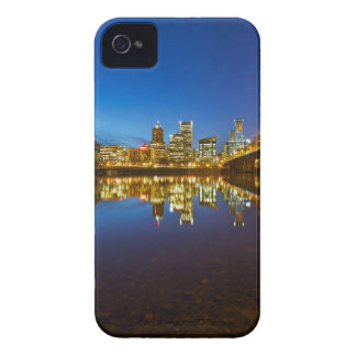 Portland OR Downtown city skyline Blue Hour Case-Mate iPhone 4 Cases