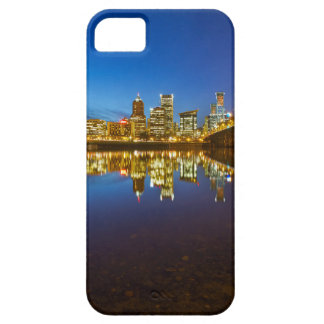 Portland OR Downtown city skyline Blue Hour iPhone 5 Case