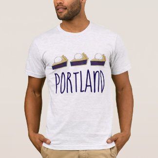 Portland OR Oregon Marionberry Berry Pie Slice T-Shirt
