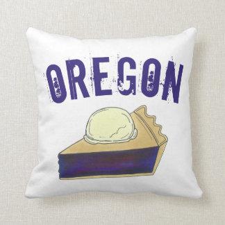 Portland OR Oregon Marionberry Berry Pie Slice Throw Pillow