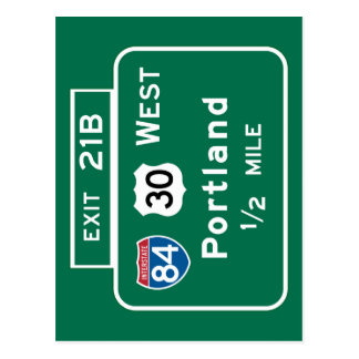 Portland, OR Road Sign Postcard