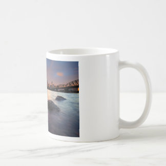 Portland OR Skyline along Willamette River Sunset Coffee Mug