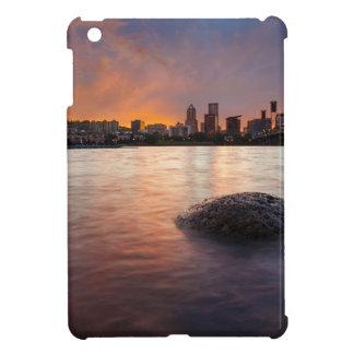Portland OR Skyline along Willamette River Sunset iPad Mini Cover